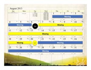 August 2013 gardening calendar